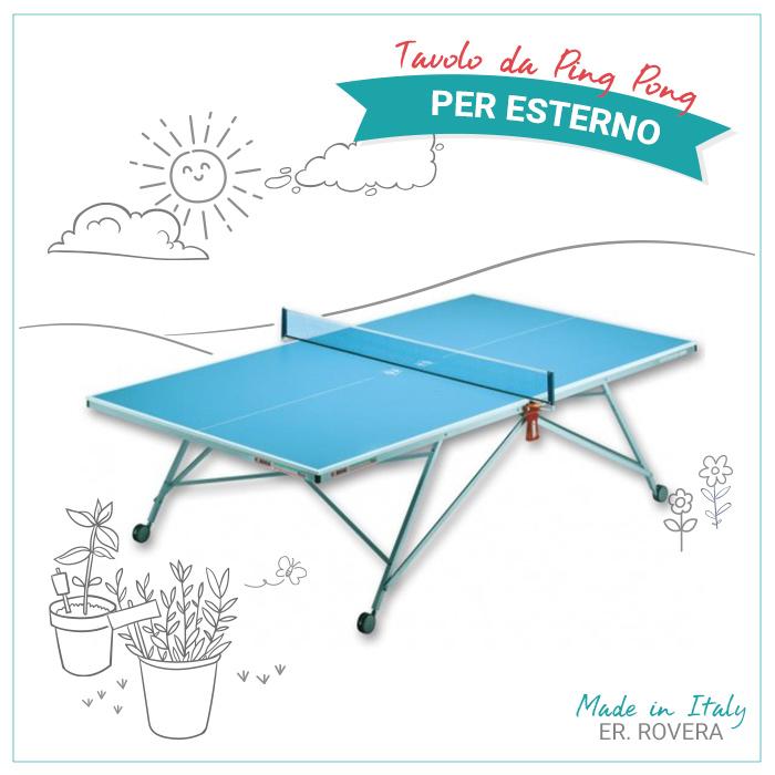 Tavolo Da Ping Pong Per Uso Esterno 45 Omaggio Racchette E Pallina